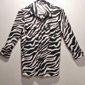 New Karl Lagerfeld Zebra Top Size XS